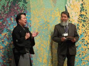 左から藤舎貴生さん、藤本草理事長