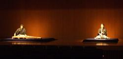 「秋風曲(あきかぜのきょく)」でのジョイント。左に山登師、右に善養寺師。